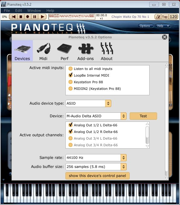 Pianoteq LoopBe Abumarkub midibridge